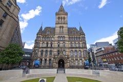 Het Stadhuis van Manchester, Engeland Royalty-vrije Stock Foto