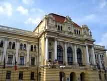 Het Stadhuis van Oradea, Roemenië Royalty-vrije Stock Foto's