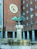 Het Stadhuis van Oslo, Noorwegen Royalty-vrije Stock Afbeeldingen
