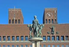 Het Stadhuis van Oslo, Noorwegen Royalty-vrije Stock Fotografie