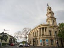 Het Stadhuis van Paddington is een stadhuisgebouw in de voorstad van Sydney van Paddington, Nieuw Zuid-Wales op de Straat die van stock foto's