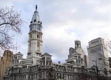 Het Stadhuis van Philadelphia, Philadelphia, Pennsylvania, de V.S., de bouw royalty-vrije stock afbeeldingen