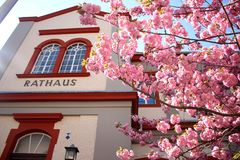 Het Stadhuis van Rathaus in Wetzlar, Duitsland stock afbeeldingen
