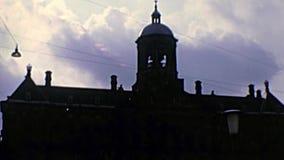 Het stadhuis van Royal Palace van Amsterdam stock footage