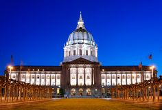 Het Stadhuis van San Francisco Royalty-vrije Stock Foto's