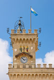 Het stadhuis van San Marino Royalty-vrije Stock Foto's