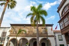 Het stadhuis van Santa Cruz de La Palma Plaza Espana Royalty-vrije Stock Fotografie