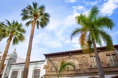 Het stadhuis van Santa Cruz de La Palma Plaza Espana Stock Foto's