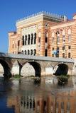 Het stadhuis van Sarajevo Stock Afbeeldingen