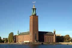 Het stadhuis van Stockholm stock fotografie