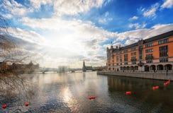 Het Stadhuis van Stockholm Stock Foto's