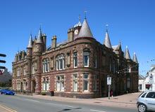Het stadhuis van Stornoway stock fotografie
