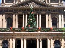 Het Stadhuis van Sydney Bij Kerstmis Stock Afbeelding