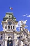 Het Stadhuis van Triëst (Italië) Stock Foto