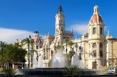 Het Stadhuis van Valencia, Spanje. Royalty-vrije Stock Afbeelding