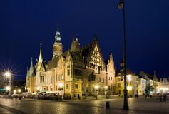 Het Stadhuis van Wroclaw Stock Afbeelding
