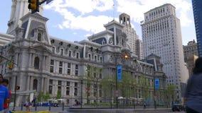 Het stadhuis vierkant 4k Pennsylvania de V.S. van Philadelphia van de de zomertijd stock footage