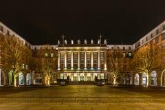 Het stadhuis in Wuppertal-Barmannen stock foto's