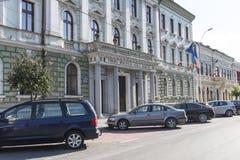 Het stadhuispaleis in Sighetu Marmatiei Royalty-vrije Stock Foto's