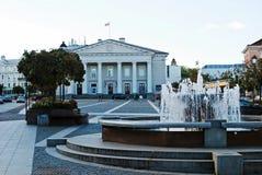 Het stadhuisplaats van de Vilniusstad op 24 September, 2014 Stock Foto