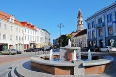 Het stadhuisplaats van de Vilniusstad op 24 September, 2014 Stock Afbeelding