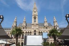 Het Stadhuisvoorzijde van Wenen Stock Foto's