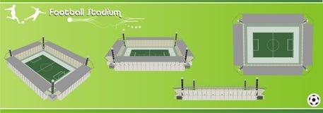 Het stadion 3d vector van de voetbal Stock Afbeeldingen