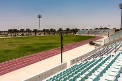 Het stadion in de campus van de Koning Abdullah University van Wetenschap en Technologie, Thuwal, Saudi-Arabië stock foto's