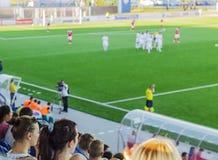 Het stadion met de ventilators Stock Foto