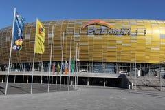 HET STADION VAN 2012 VAN DE EURO VAN UEFA - PGE ARENA, GDANSK, POLEN Stock Foto