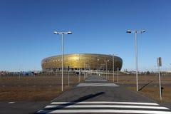 HET STADION VAN 2012 VAN DE EURO VAN UEFA - PGE ARENA, GDANSK, POLEN Stock Foto's