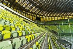 Het stadion van de Arena PGE voor 43.615 toeschouwers Stock Foto's