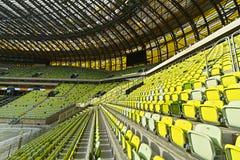 Het stadion van de Arena PGE voor 43.615 toeschouwers Stock Afbeeldingen