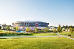 Het stadion van de Arena van Donbass in Donetsk, de Oekraïne Royalty-vrije Stock Afbeeldingen