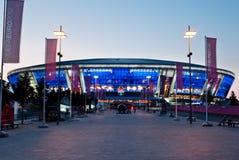 Het stadion van de Arena van Donbass - hoofdingang Stock Afbeeldingen