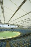 Het Stadion van de Maracanavoetbal vanaf Bovenkant van Tribune Stock Afbeeldingen