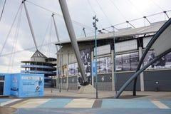 Het stadion van de Stadsetihad van Manchester Stock Foto