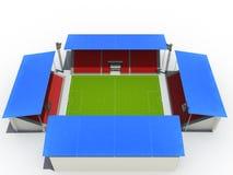 Het stadion van de voetbal â4 Stock Afbeelding