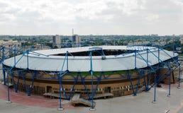 Het stadion van de voetbal. Stock Foto