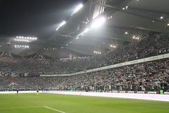 Het stadion van de voetbal Stock Afbeelding
