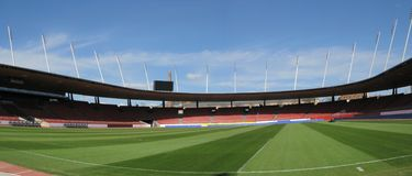 Het stadion van de voetbal