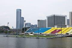 Het stadion van de voetbal bij de Baai van de Jachthaven, Singapore Stock Foto