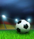 Het stadion van de voetbal vóór het spel stock illustratie
