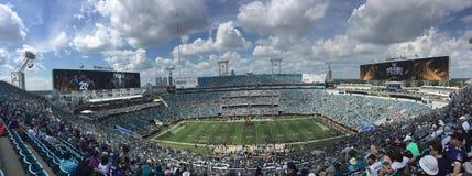 Het Stadion van EverBank van de speltijd, Jacksonville, FL stock fotografie
