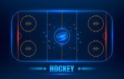 Het stadion van het hockey op bovenkant Stock Foto