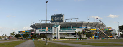 Het Stadion van het Leven van de zon - Miami Florida Stock Afbeelding