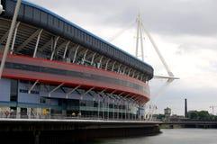 Het Stadion van het millennium in Cardiff Wales het UK stock afbeeldingen