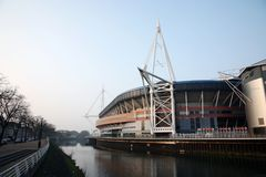 Het Stadion van het Millennium van Cardiff Stock Afbeelding