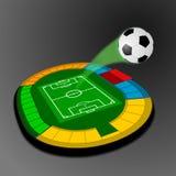 Het stadion van het voetbal/van de Voetbal Stock Fotografie