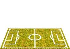 Het Stadion van het voetbalgebied isoleerde witte achtergrond Stock Fotografie